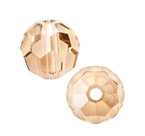 50pcs 8mm Adabele Austrian Round Crystal Beads Light Peach Compatible with 5000 Swarovski Crystals Preciosa SS2R-818 ()