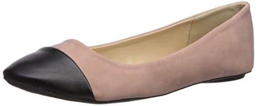 Ballet Cap Toe Flats - Qupid Women's Bee-53 Ballet Flat, Blush, 8 M US