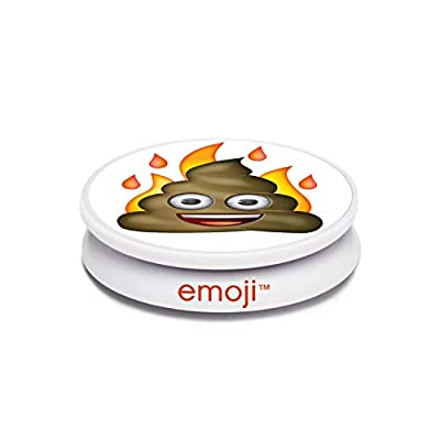 Coolgrips All in one Magnetic Collapsible Cell Phone Grip Mount and Stand for Smartphones and Tablets Emoji Fire Poo