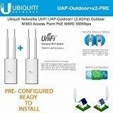 Ubiquiti UniFi AP Outdoor+ 2-PACK PRE-CONFIGURED 2.4 GHz Enterprise WiFi System