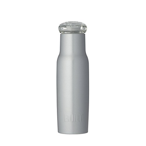 Built NY Double Wall Stainless Steel Water Bottle with Tritan Flip Top Lid, 18-Ounce, Silver ()