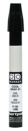 The Original Chartpak AD Marker, Tri-Nib, Cool Gray 1, 1 Each -