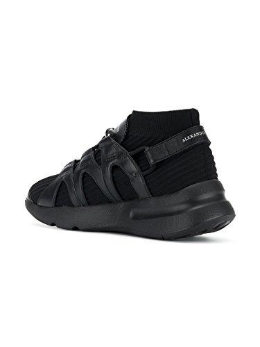 Alexander Mcqueen Mannen 506644w4hh11000 Zwart Lederen Sneakers