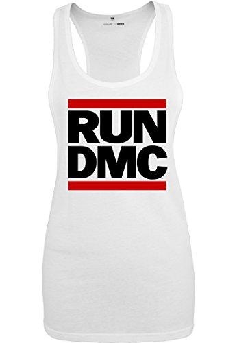 Urban Classics Ladies Tank Top Run DMC weiss