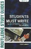Students Must Write, Robert Barrass, 0415358264