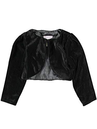 rls' Toddler Velour 1-Button Shrug - black, 2t ()