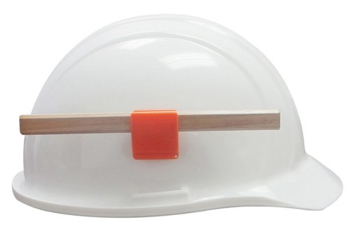 ERB 15684-12 2010 Series Helmet Pencil / Pen Clip, Orange (12-Pack)