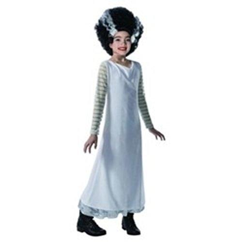 Girls MED 8-10 Bride of Frankenstein Costume Halloween Monster Dress up Play -