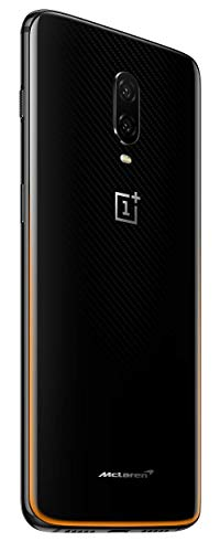 OnePlus 6T McLaren Limited Edition (Speed Orange, 10GB RAM,256GB Storage) 2021 July Camera: 16+20 MP Dual rear camera with Optical Image Stabilization, Super slow motion, Nightscape and Studio Lighting | 16 MP front camera Display:6.41-inch(16.2 cms)Full HD+ Optic AMOLED display with 2340 x 1080 pixels resolution and an 86% screen-to-body ratio Memory, Storage & SIM: 10GB RAM | 256GB storage | Dual nano SIM with dual standby (4G+4G)