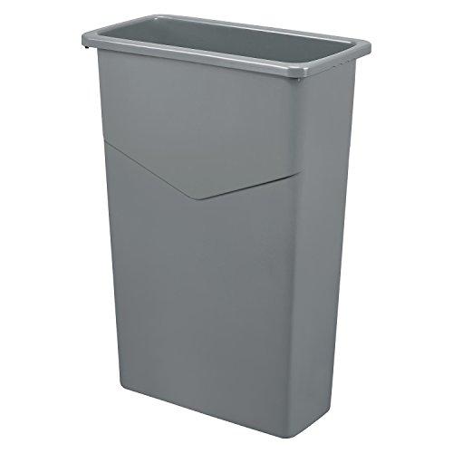 Slim Trash Container, 23 Gallon, Gray