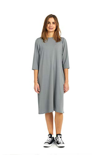 (Esteez Women's Sport Dress - Mesh Jersey - 3/4 Sleeve Nadia Grey 1X)