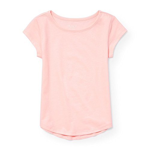 The Children's Place Big Girls' Short Sleeve Active Top, Sweet Nothing 6791, L (10/12)