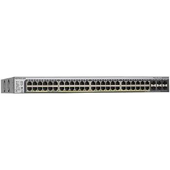 NETGEAR 52-Port Smart Managed Pro Stackable Switch, 48GbE PoE/PoE+, 384W, 6 SFP+ (GS752TPSB)