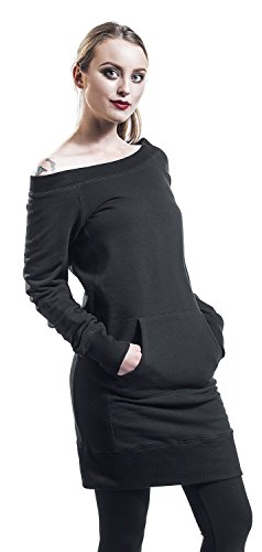 schwarz Kleid Wideneck Long Sweater Schwarz Forplay 0IvaTqY