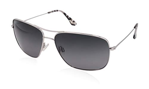 Maui Jim Cook Pines GS774-17 | Polarized Silver Aviator Frame Sunglasses, Neutral Grey Lenses, with Patented PolarizedPlus2 Lens ()