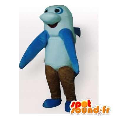 Mascota SpotSound Amazon tiburón azul personalizable, blanco y ...