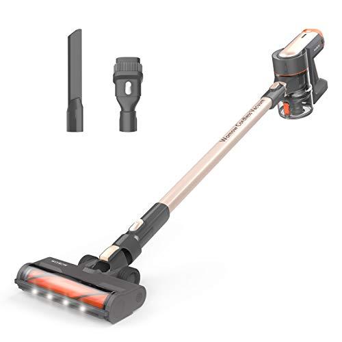 Womow Cordless Vacuum Cleaner, 20Kpa Ultra-Powerful 300W Stick Vacuum, Rechargeable Battery Powered Pet Hair Vacuum, Portable 2 in 1 Handheld Vacuum Cleaner for Hard Floor Carpets Car, W16