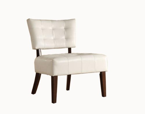 Amazon Com Homelegance Warner Faux Leather Accent Chair