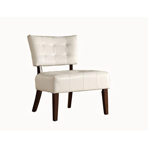 Homelegance Warner Faux Leather Accent Chair, White