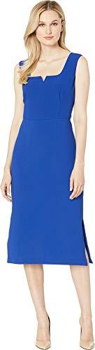 Adrianna Papell Women's Cameron Textured Midi Sheath Dress Egyptian Blue 2