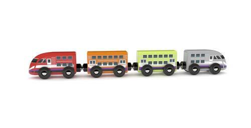 J`ADORE 파리 자연 나무 장난감 세트 놀라운 장난감 유아(총알 기차)