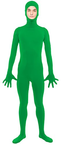 VSVO Adult Green Open Face Full Body Zentai Supersuit Costumes (Small, -