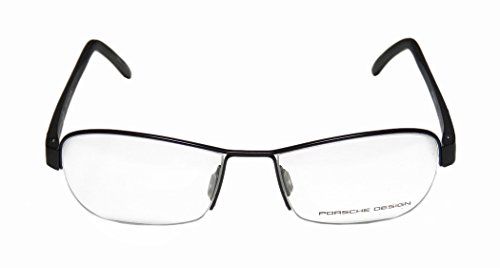Porsche Design 8211 Mens/Womens Designer Half-rim Eyeglasses/Eyewear (52-17-140, Black) (Wholesale Coach Inspired Handbags)