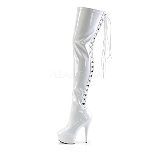 Pleaser 3063 Lack Mujer Botines Para Weiß Delight FravaqWXp