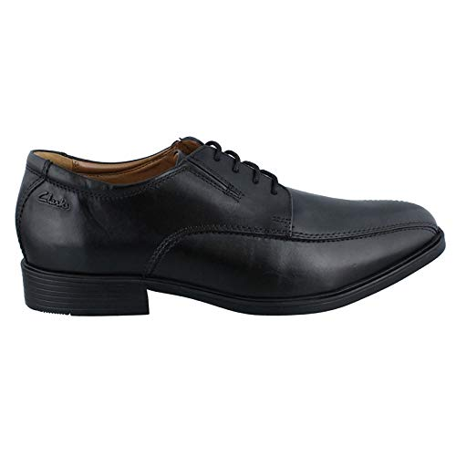 Clarks Men's Tilden Walk Black Leather 9 D - Medium Black Friday Deals 2019