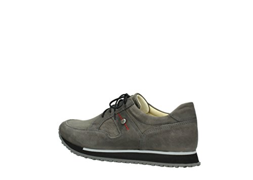 Leather Walk Comfort Dark Trainers Wolky Stretch 20201 e Grey ZUn8Pwqg