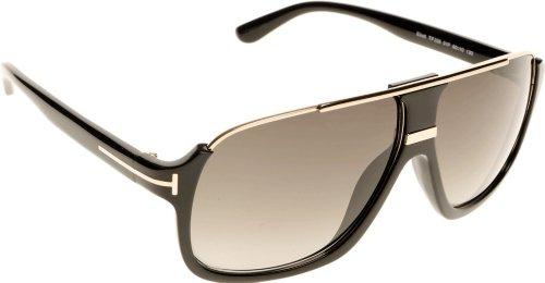 New Tom Ford Sunglasses Men Aviator TF 335 Black 01P Eliott ()