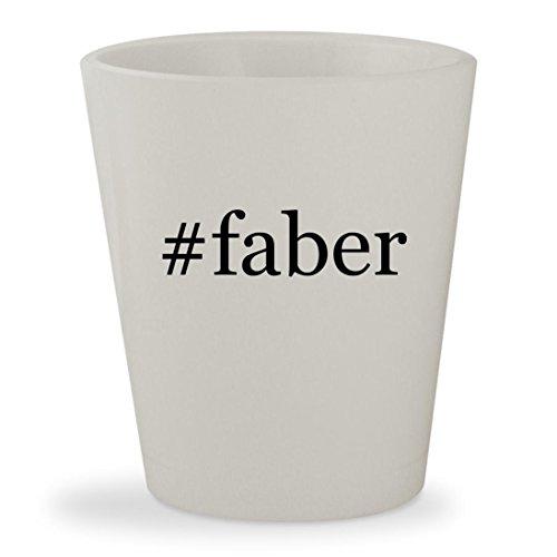 #faber - White Hashtag Ceramic 1.5oz Shot Glass