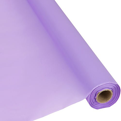 Lilac Table Cover - Plastic Party Banquet Table Cover Roll - 300 ft. x 40 in. - Disposable Tablecloth (Lavender)
