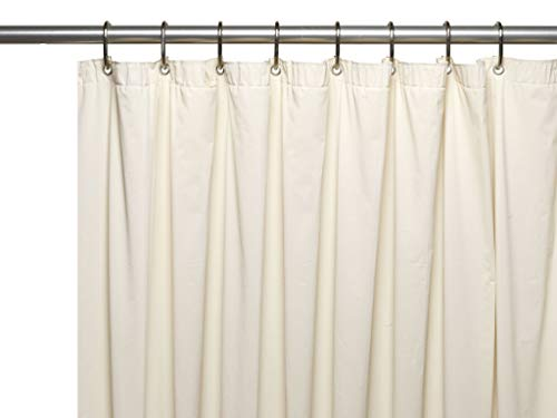 Hotel Collection Heavy Duty Anti Bacterial Mold & Mildew Resistant Non Toxic Premium PEVA Shower Curtain Liner with Rust Proof Metal Grommets - Assorted Colors (Ivory/Beige)