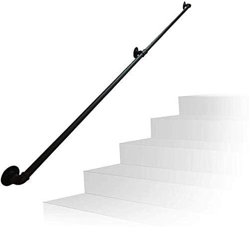 BPQ Barandilla práctica Escalera Negra Mate / 35-300cm Diseño de Hierro Forjado Tubo de Agua Barandilla/Montado en la Pared Kindergarten Tubo de Seguridad Reposabrazos Escaleras: Amazon.es: Hogar