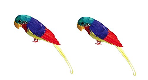 U.S Toy Company Feather Parrot Toy, 12-Inch (Two-Pack)