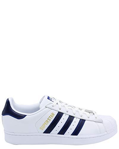 adidas Originals Men's Superstar Shoe Running, white/collegiate royal/gold metallic, 10.5 M US