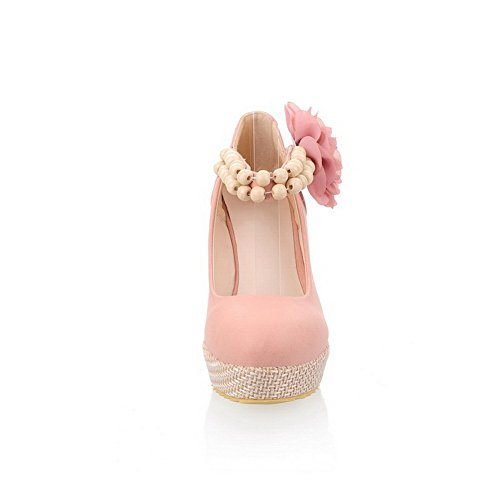 Pompes balamasa Talons Hauts Chaussures Femme avec solide boucle Rose YfUOgwfq