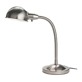 Desk Work Lamp: Ikea - Format Desk Work Lamp, Nickel Plated,Lighting