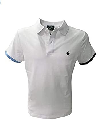 Beverly Hills - Polo para Hombre, Mod. BHPC5248 Color Blanco ...