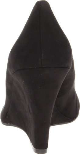 Jessica Simpson Women's Cash Wedge Pump Black Suede clearance manchester great sale A7zwq