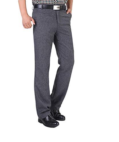 Flat Leichte Anzughose Darkgray Pantaloni Loose Lavoro Fit Casual Office Hose Regular Freizeithose Vintage Chinohose Formale Da 2 Herren 0x6fp