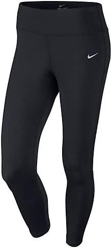 Nike Women's Essential Running Capri Pants (XS, Black/Reflective Silver)