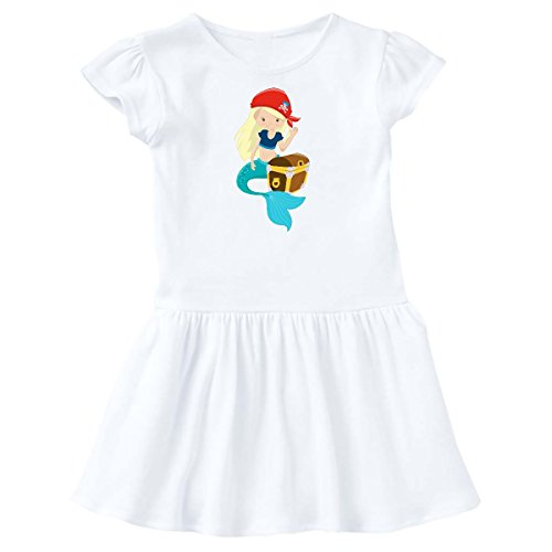 inktastic - Mermaid Pirate Toddler Dress 4T White 27523