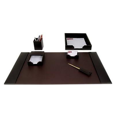Six Piece Leather Desk Pad Set