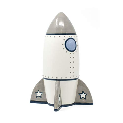(Child to Cherish Roger Rocket Piggy Bank for Boys)