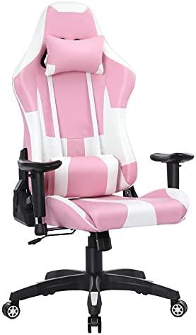 Computer Gaming Chair Ergonomic Reclining Gamer Chair Racing Desk Chair Adjustable Swivel High Back PU Leather Racing E-Sports Chair