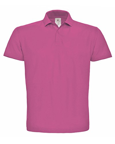 B&C PUI10 Mens Short Sleeve ID.001 Polo Shirt - Fuchsia - Small