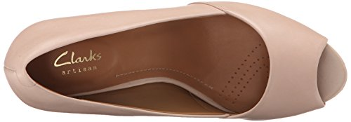 Clarks Damesfamilie Kona Jurk Pump Nude Pink Leather
