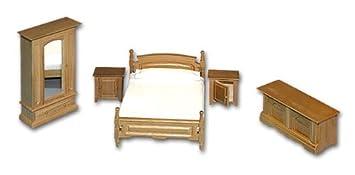 Camera da letto rustica per case delle bambole: Amazon.it ...